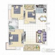 九龙城3室3厅1卫0平方米户型图
