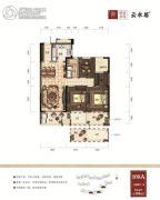 绿谷庄园3室2厅1卫108平方米户型图