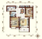 中贸府・牡丹园2室2厅1卫91平方米户型图