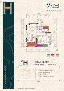 银港国际3室2厅2卫115平方米户型图