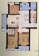 恒力・水木清华3室2厅2卫140平方米户型图