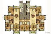 雅居乐滨江国际4室3厅4卫280平方米户型图