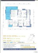 御品蓝湾3室2厅2卫142--143平方米户型图