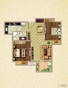 荣盛鹭岛荣府2室2厅1卫75平方米户型图