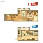 银亿格兰郡1室1厅1卫41平方米户型图
