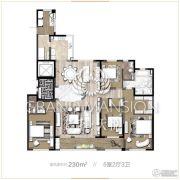 保利天悦5室2厅3卫230平方米户型图
