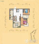 万科・翡翠传奇2室2厅1卫0平方米户型图