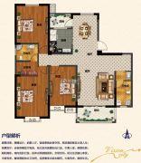 佳田未来城3室2厅2卫162平方米户型图