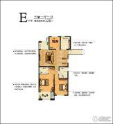 凤凰名都3室2厅2卫120平方米户型图