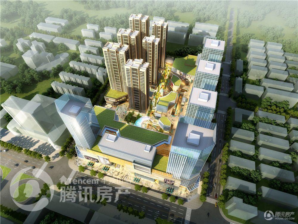 百汇国贸中心效果图——鸟瞰角度
