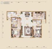 海宁湾3室2厅2卫126平方米户型图