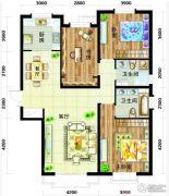 天庆国际新城3室2厅2卫137平方米户型图