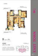 中联东郡3室2厅2卫91平方米户型图