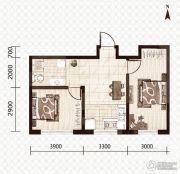 益和国际城2室1厅1卫68平方米户型图