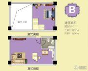 荔园地产中心1室2厅1卫55--96平方米户型图