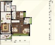奥园・禧悦�_3室2厅2卫108平方米户型图