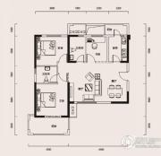 幸福时代3室1厅2卫109平方米户型图