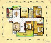 中央新城3室2厅2卫136--138平方米户型图