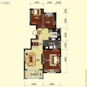 保利溪湖林语3室2厅1卫99平方米户型图