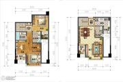IBOX-部落阁2室2厅3卫74平方米户型图