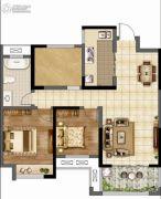 香榭里畔山兰溪2室2厅1卫97--101平方米户型图