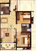 阳光城丽景湾2室2厅1卫74平方米户型图