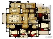 洛城中央御景4室2厅4卫250平方米户型图