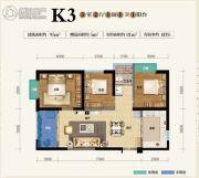 俊发盛唐城3室2厅1卫95--100平方米户型图