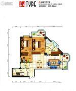 芙瑞双子国际2室2厅1卫101平方米户型图