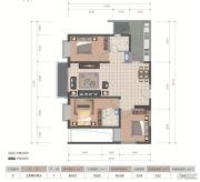 医大广场3室2厅2卫102平方米户型图