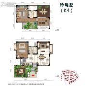 石梅半岛2室2厅2卫88平方米户型图