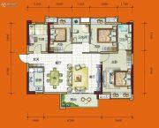时代花城4室2厅2卫110平方米户型图