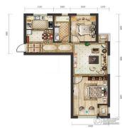 远洋荣域2室2厅1卫87平方米户型图