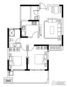 亚东观樾2室2厅1卫89平方米户型图