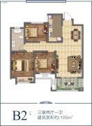 香榭里畔山兰溪3室2厅1卫105平方米户型图