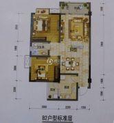 金安御景2室2厅1卫86--87平方米户型图