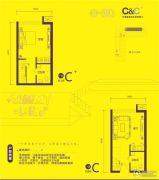 熙悦0室0厅0卫57--62平方米户型图
