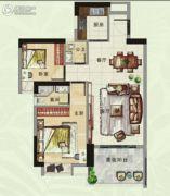 香樟美地2室2厅2卫88平方米户型图