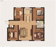 绿地中央广场4室2厅1卫0平方米户型图