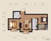 现代滏阳原著2室1厅1卫69平方米户型图