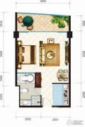 昌建逸海国际广场1室1厅1卫70平方米户型图