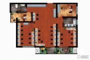 丁豪广场4室0厅0卫0平方米户型图