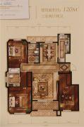 西山艺境3室2厅2卫120平方米户型图