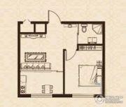 益和国际城1室1厅1卫42平方米户型图