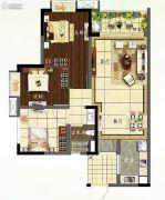 龙湖首开天宸原著3室2厅2卫83平方米户型图