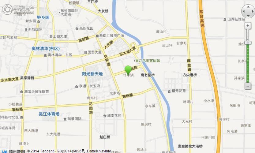 万科苏高新 四季风景花园交通图