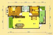 阳光华府2室2厅1卫92平方米户型图
