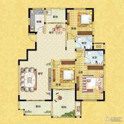 正商红河谷3室2厅2卫130平方米户型图