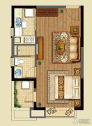 恒大山水城1室1厅1卫50平方米户型图