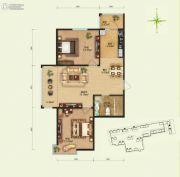 远大中央公园2室2厅1卫0平方米户型图